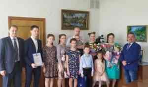 Коряжемская семья на прямой линии с президентом