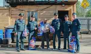 Сотрудники Карельского МЧС России оказали гуманитарную помощь пострадавшему от пожара приюту для собак