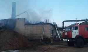 В Архангельске загорелась котельная