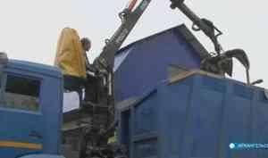 Работа по вывозу ТКО на островных территориях Архангельска приходит в норму