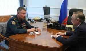 Глава МЧС России Евгений Зиничев провел рабочую встречу с губернатором Санкт-Петербурга