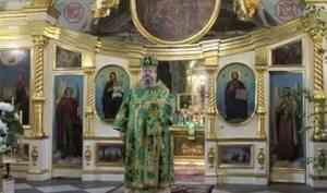 Митрополит Корнилий в канун праздника Святой Троицы совершил всенощное бдение в Ильинском соборе