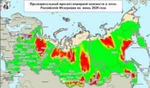 Высокие риски лесных пожаров будут в июне в Архангельской области