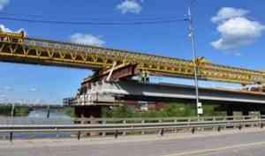 Новый мост через Вагу: строительство идет по графику