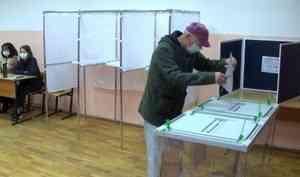 Достаточно активно сегодня голосовали районы области иНенецкий округ