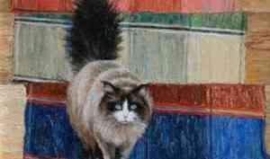Сколько могут стоить картины с изображением кошек?