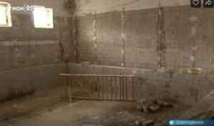 В северодвинской школе №29 восстанавливают бассейн