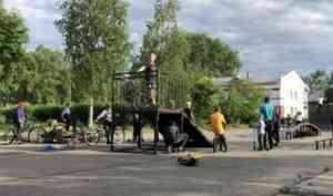 «Выходи!»: на главной площади Шенкурска появился скейтпарк