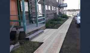 В Карпогорах продолжается реализация федерального проекта «Комфортная городская среда»