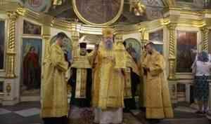 Митрополит Корнилий совершил всенощное бдение в канун праздника Рождества Иоанна Предтечи