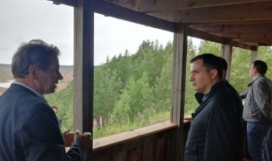 Александр Цыбульский посетил Северо-Онежский бокситовый рудник