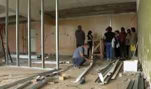 ВАрхангельске продолжают капитально ремонтировать третьи этажи детских садов