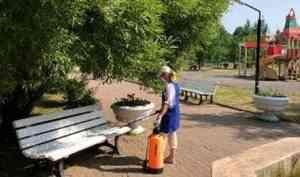 В городе проводится ежедневная обработка дезинфицирующими средствами
