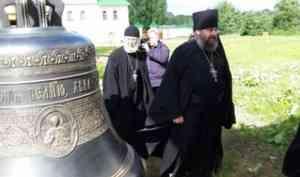Владимир Крупчак передал в дар Сийскому мужскому монастырю колокол-благовест