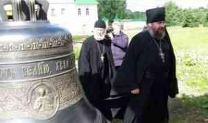 Владимир Крупчак передал в дар Свято-Троицкому Антониево-Сийскому мужскому монастырю колокол-благовест