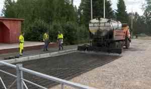 Удивление жителей няндомской деревни Макаровской вызвало появление дорожной техники