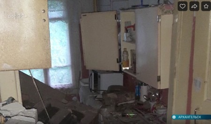ВАрхангельске обрушился очередной жилой деревянный дом