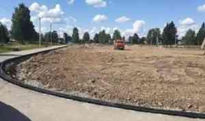 Спорт - норма жизни: в Няндоме строят полноразмерное футбольное поле и обновляют скейт-площадку