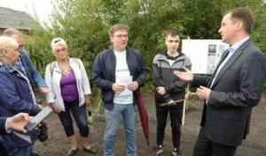 Александр Цыбульский проверил ремонт дорог в Цигломени