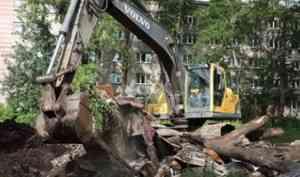 В Архангельске вместо руин деревянного дома появится новый университетский корпус
