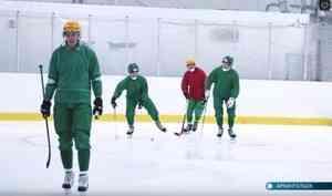 Архангельский «Водник» провёл первую вэтом сезоне тренировку нальду