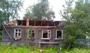 В Архангельске горели нежилые деревяшки