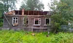 За один день в Архангельске горели два заброшенных дома