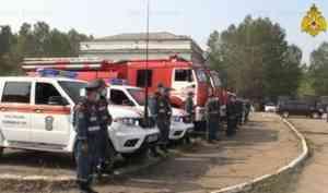 Масштабная группировка МЧС России обеспечивает безопасность проведения работ на промплощадке «Усольехимпром»