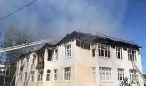 В Северодвинске горел жилой дом