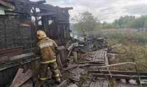 Пенсионер пострадал в результате пожара около Новодвинской крепости