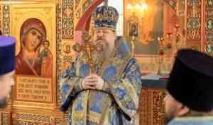 Митрополит Корнилий в праздник Рождества Пресвятой Богородицы совершил Литургию в новом храме в Уйме под Архангельском