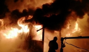 В Вельском районе сгорела дача