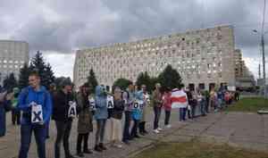 Активиста Юрия Чеснокова оштрафовали за акцию на площади Ленина