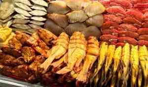 Один из самых популярных товаров на Маргаритинке - рыба