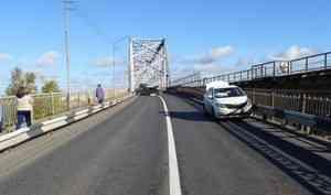 Стали известны подробности аварии, заблокировавшей движение поСеверодвинскому мосту