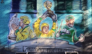 Настадионе «Труд» появилось граффити, посвящённое истории «Водника»