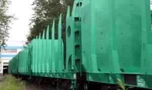 Объединённая вагонная компания поставила «Архбуму» новую партию платформ для леса
