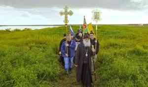 «Отступать нельзя!»: в самой северной епархии Русской Церкви помолились на месте первого заполярного города Руси