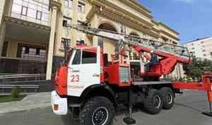 Сотрудники МЧС провели учения в здании Верховного суда Чеченской Республики