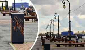 Граффити на урнах и скамейка-волна: как выглядит Красная пристань, обновленная в начале сентября — фото