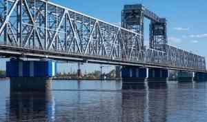 4октября железнодорожный мост в Архангельске перекроют всвязи скапитальным ремонтом