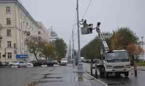 В Архангельске на набережной установили комплекс фотовидеофиксации нарушений ПДД