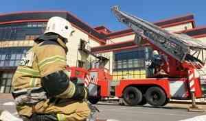 В Чеченской Республике пожарные провели учения в крупном торговом центре