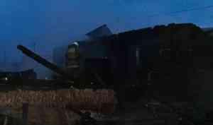 В Котласском районе сгорел дом
