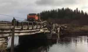 Мост в Плёсо разрушил рулевой лесовоза без водительских прав