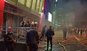 В Котласе при пожаре в торговом центре «Столица» пострадал один человек