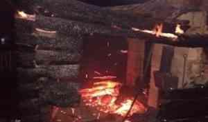В Вельском районе при пожаре погиб мужчина