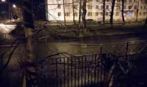 В Северодвинске пьяный водитель протаранил забор и сбил пешехода