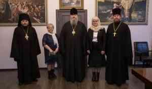 Митрополит Корнилий встретился с ректором СГМУ Любовью Горбатовой