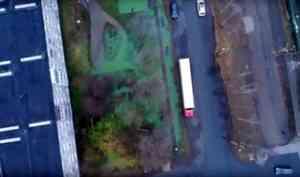Видео: зеленые реки в Соломбале с высоты птичьего полета
